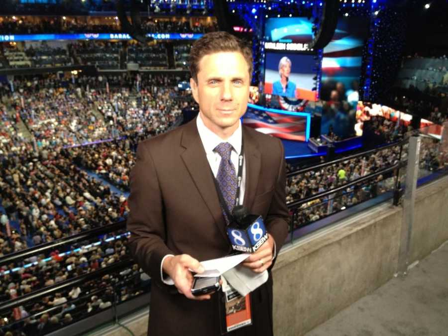 With Kathleen Sebelius addressing the crowd, David Bienick gets ready for a live report from the Democratic National Convention.