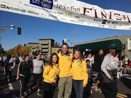 Lisa Gonzales, Brian Hickey and Deirdre Fitzpatrick at the 2012 Run to Feed the Hungry.