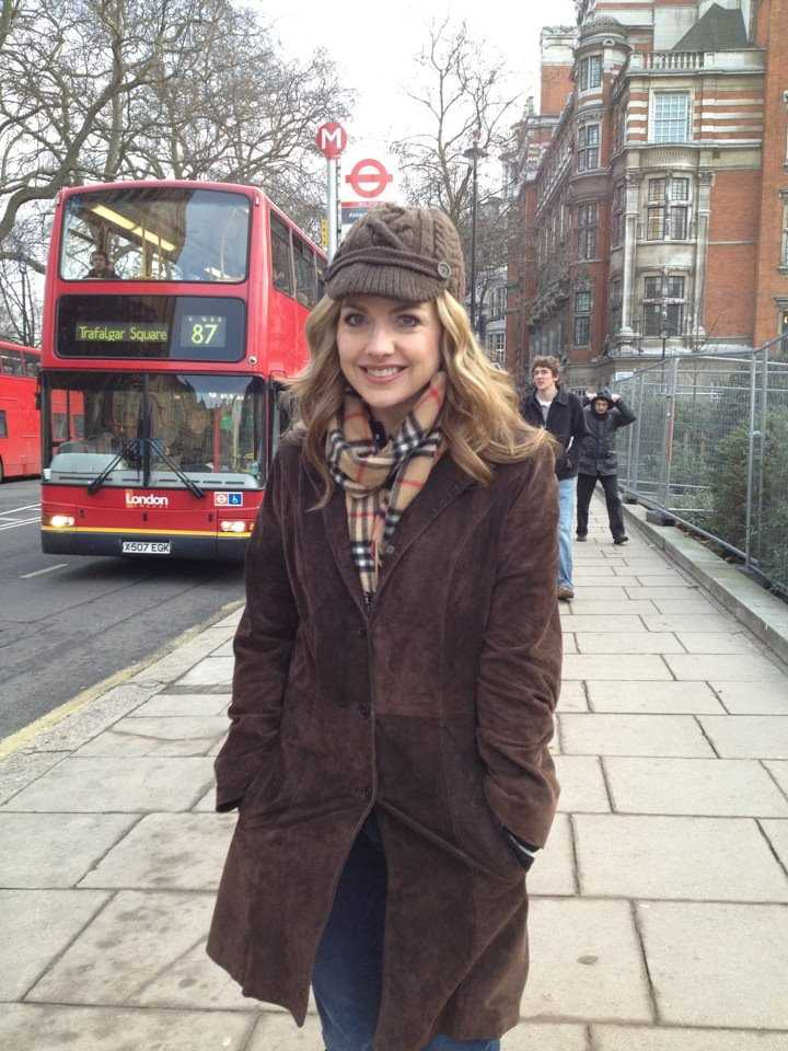 """KCRA's Deidre Fitzpatrick playing """"tourist"""" in London in February.Preparationwas key for athletes and journalists."""