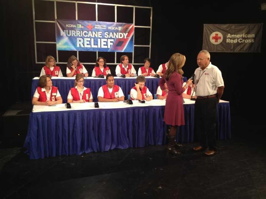 KCRA hosts atelethonto raise money for victims of HurricaneSandy.
