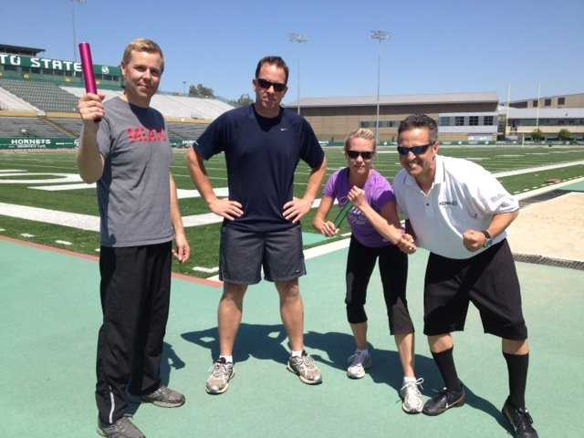 The KCRA 3 morning team got in the Olympic spirit with a team relay event at Hornet Stadium.