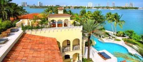 Average nightly rate for the Villa Contenta in Miami is $22,000.