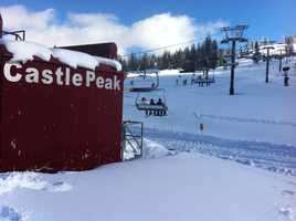 Skiers on Thursday said there is plenty of snow in the Sierra.