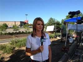 Kellie DeMarco reporting live in Aurora, Colo., following the mass shooting at a Century movie theater.