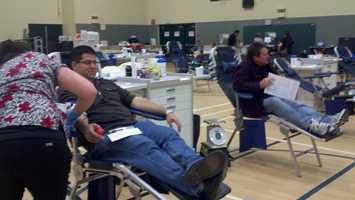 On Friday, the KCRA 3 Blood Drive For Life kicked off at the Roseville Sports Center, and volunteers have a goal to bring in more than a thousand new donors. For more information, click here.