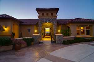 Here's the entryway into the home, which is situated on about 1 acre of land.