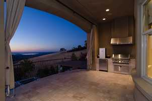 This home also features this outdoor kitchen.