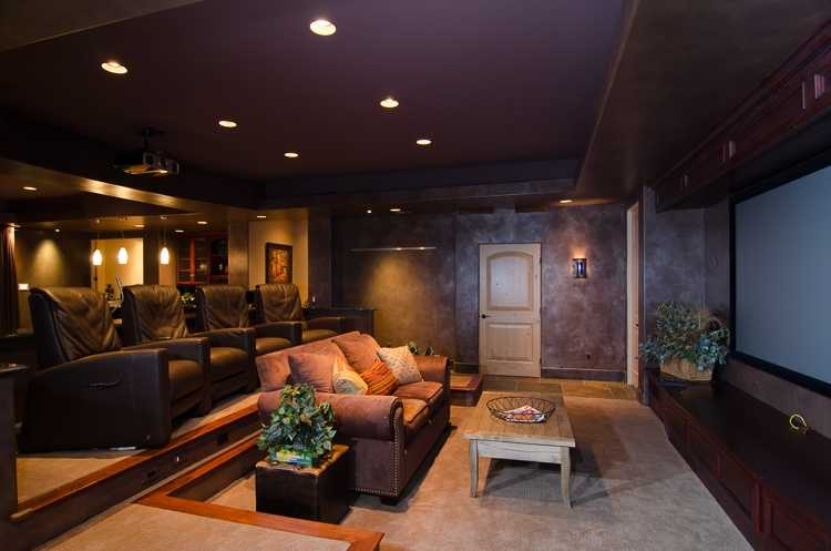 This home has this home theater setup.