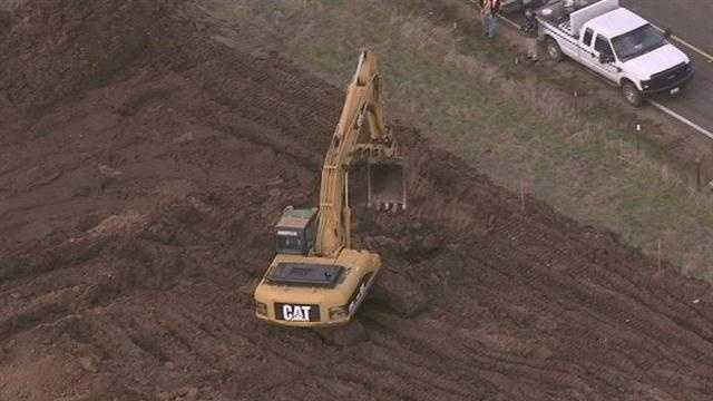Investigators begin dig at Linden site on Monday.
