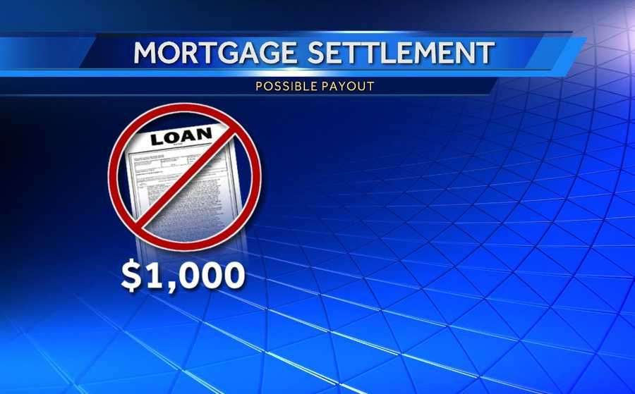 The settlement may mean homeowners who were denied a loan modification could receive $1,000.