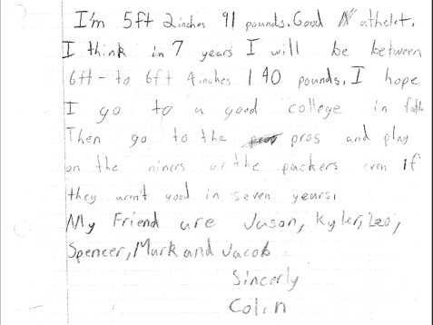 Kaepernick writes about his dream of going to college and playing for the 49ers.