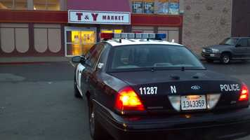 An employee at a Sacramento market overpowered a gunman who had tied up several employees during an early-morning robbery Wednesday.