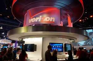The Verizon booth.