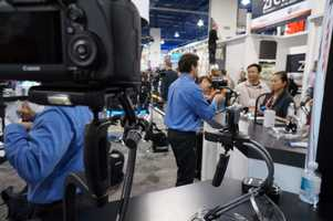 Streadicam showed off their products for iPhone, GoPro and other DSLR cameras to get the perfect shot.
