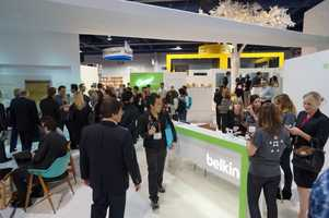 The Belkin booth.