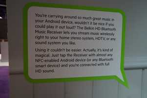 Belkin Bluetoothreceiverwill connect your Bluetooth device to your sound system. You can also start to use a NFC-enabled Android.