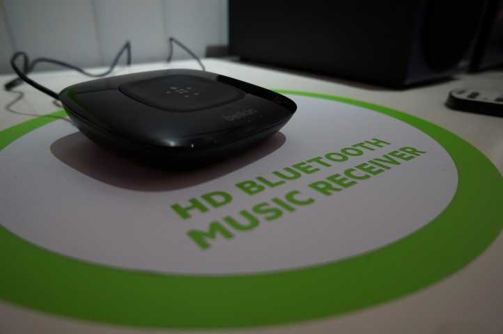 Belkin Bluetoothreceiverwill connect your Bluetooth device to your sound system.