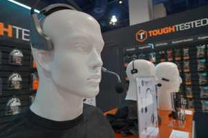 Headsets at the show.