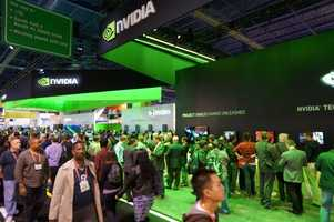 The Nvidia booth.