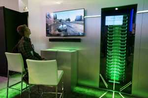 Nvidia showed off their cloud-gaming solution.