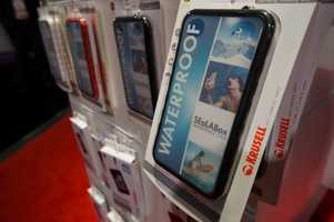 Waterproofing and protecting phones was a huge theme of the show.