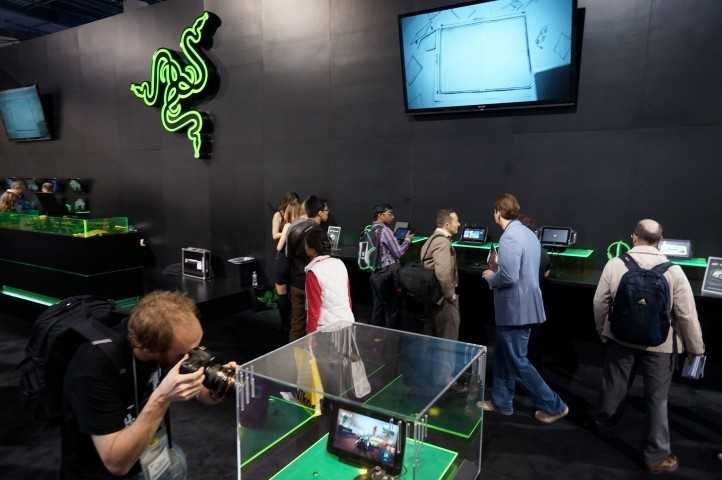 Portable gaming tablets also had a large presence at CES.