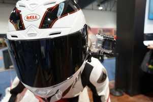 GoPro displayed the latest Hero 3 action camera.