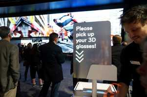 LG had anenormous3D display at the front of their booth.