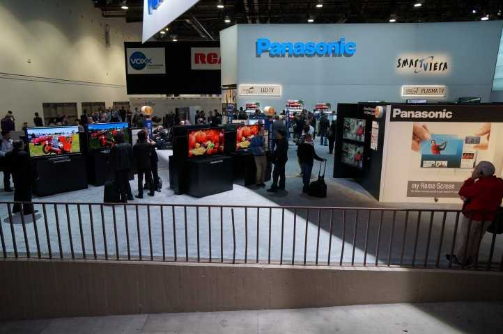 Panasonic and other TV manufactures had very large display areas.