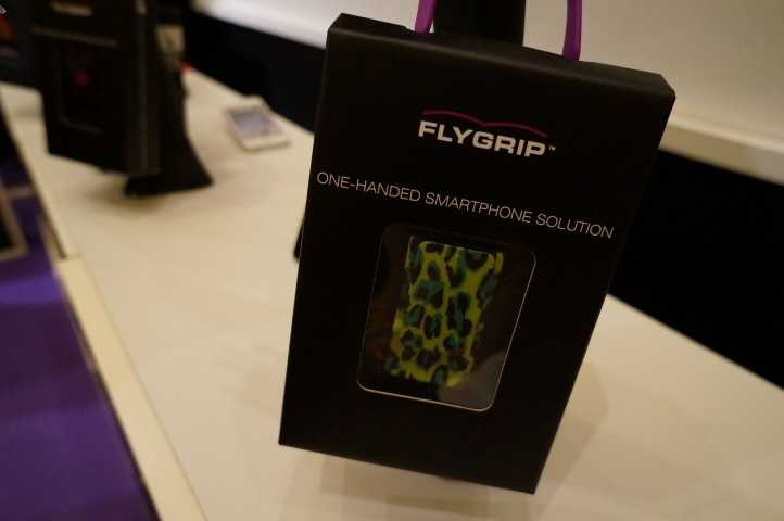 There were hundreds of booths dedicated to cases for smart-devices. The Flygrip was one of the more unique options.