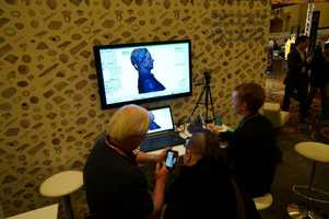 During this demonstration, users were getting ready to print a bust of a participant.