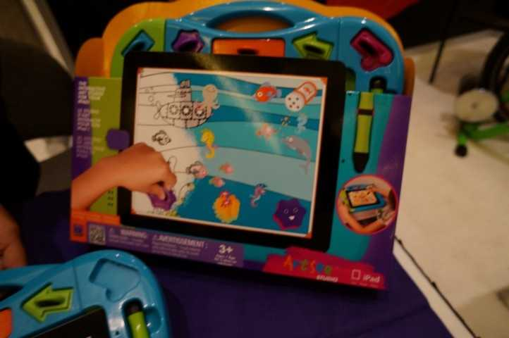 Wowwee showed this art iPad dock for kids.