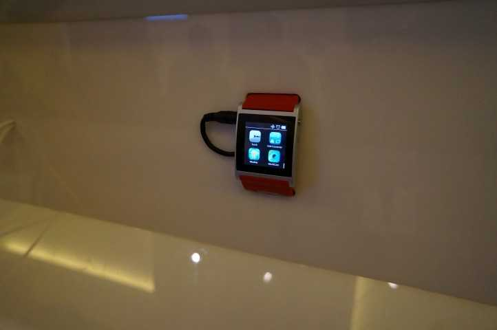 One of the smart watch demo units.