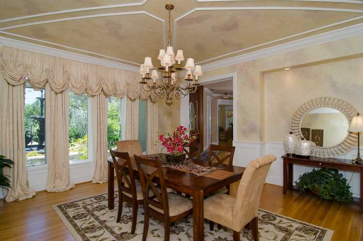 Here's a view inside a dining area.
