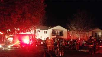 Firefighters said children set a bed on fire.