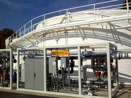 The company's bio-digester breaks down restaurant food waste and converts it into energy.