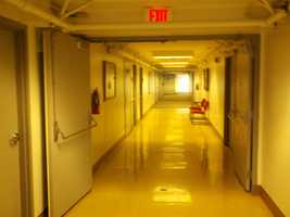 The halls of the Hawthorne of the old RosevilleHospital, which willHawthorne Academy of Arts and Sciences.