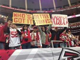 Plenty of 49er fans in Atlanta
