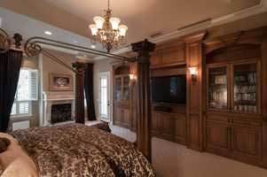 The home's master bedroom.