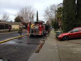 A two-alarm fire Thursday destroyed a Vacaville home after residents failed to shut off their stove's burners.