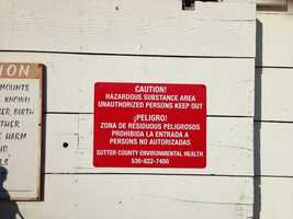 Keep-out signs are now posted in Yuba City, where a chemicals site was found in November.