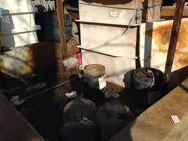 State authorities discovered 11,000 gallons of dangerous chemicals that could have exploded.