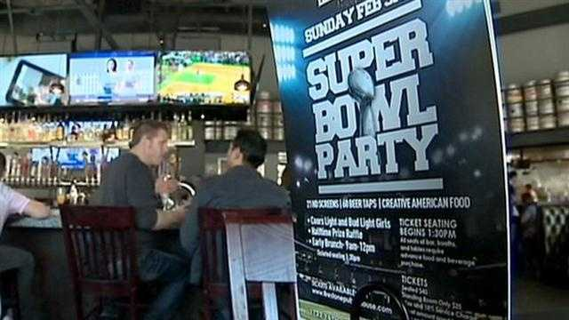 Popular sports bars and take-and-bake pizza businesses are gearing up for Super Bowl Sunday.