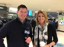 Kellie DeMarco and Chris Riva at the Sacramento International Airport. (Jan. 28, 2013)