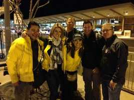 KCRA's Super Bowl team outside the Sacramento International Airport getting ready to take off to New Orleans. (Jan. 28. 2013)