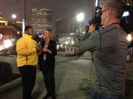 Del and Kellie reporting live on the 6 p.m. newscast. (Jan. 28, 2013)