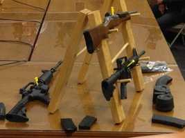 It is not common for firearms to be on display at state Capitol.