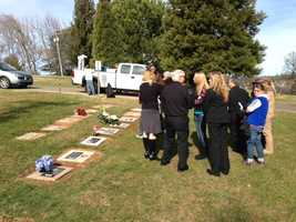 Known only as Baby John Doe, the infant recently was buried in the New Auburn Cemetery's baby section. On Tuesday, his gravesite received a stone marker, thanks to the public's generosity (Jan. 29, 2013).