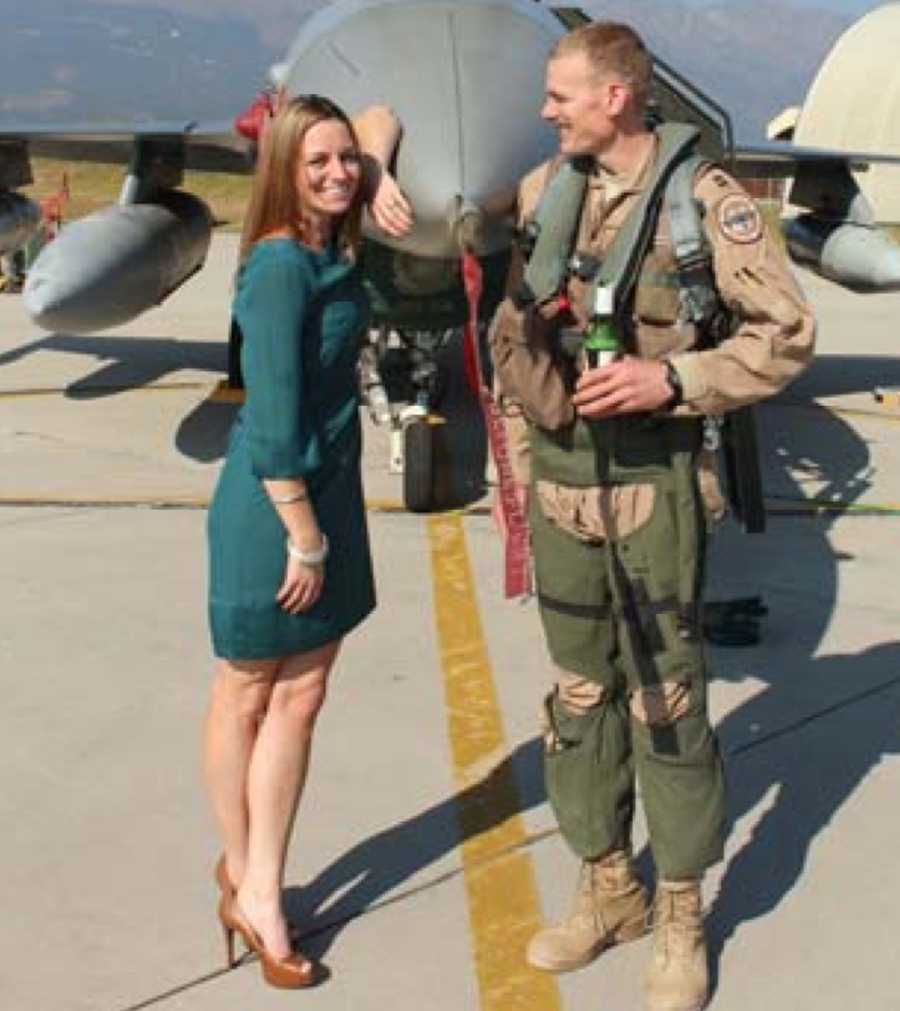 Capt. Lucas Gruenther and his wife