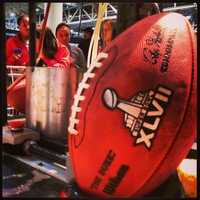A Super Bowl XLVII game ball. (January 30, 2013)